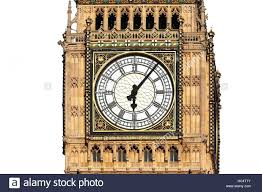 big ben wall clock face of in cut out with a white background decal