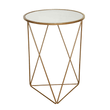metal accent table. HomePop Metal Accent Table Triangle Gold Base Round Glass Top B