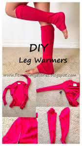 diary of a fit mommy diy one step leg warmers for fall costume année 80