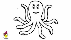 Small Picture Happy Octopus Sea Animals Easy Drawing how to draw an