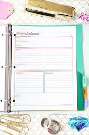 College Academic Planners Student Binder For Back To School With Free Printables