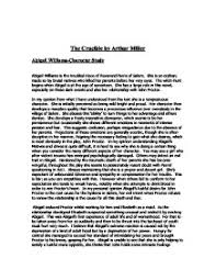 essays on the crucible by arthur miller essay on the crucible by arthur miller 1108 words bartleby