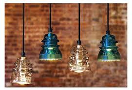 above antique insulator pendant lights clear aqua blue or clear beaded 149 99 each at railroadware