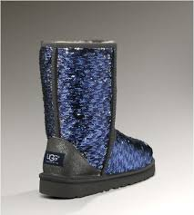 Race USA UGG Classic Short Sparkles 1002978 Boots Navy For Women