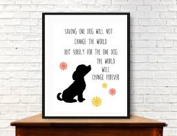 Rescue Dog Art Print Digital Download Rescue Dog With Quote Dog Inspiration Dog Lover Graphic Print Of Shelter Dog Love Rescues