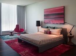 overdyed rugs in modern bedroom