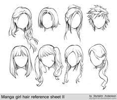 24 Best Anime Hair Drawing Images Drawing Techniques Manga