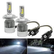 Đèn pha LED C6 2 tim  Đèn Led Xe Máy và Ô Tô chân H4  giá một bóng