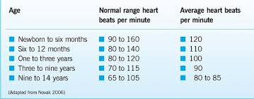 Children S Resting Heart Rate Chart Cardiovascular Assessment In Children Assessing Pulse And