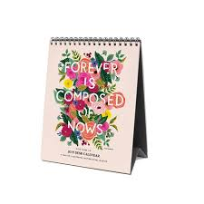 Paper Flower Quotes 2019 Inspirational Quotes Easel Desk Calendar Contemporary Art By