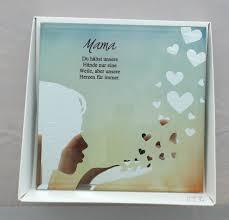 Formano Glasbild Spiegelweißheit Mama Muttertag Du Hältst Unsere Hände Nur Eine Weileaber Unsere Herzen Für Immersilhouette Mit Spruch 15x15cm