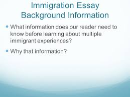 do now iuml plusmn iuml reg group leaders start a discussion 13 immigration essay background information what information