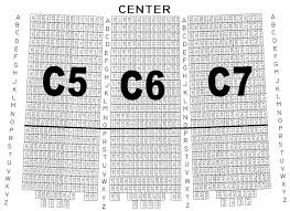 The Sheldon Seating Chart Section C5 C6 C7 The Muny