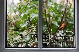 Diy Fenster Weihnachtlich Bemalen Pixi Mit Milch