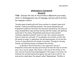 discuss the role of the witches in macbeth your essay refer to  document image preview