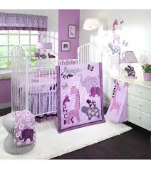 purple nursery bedding set trend lab medallion crib lavender