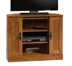 corner entertainment stand. Sauder 404962 Harvest Mill Corner Entertainment Stand For TVs Up To Intended