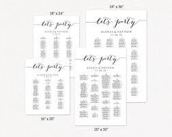 Seating Chart Seating Chart Wedding Alphabetical Seating Chart Template Seating Chart Poster Seating Chart Board Wedding Seating Sign