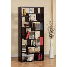 furniture of america unique wood bookcase display cabinet  red