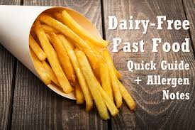 Dairy Free Fast Food Quick Guide With Allergen Notes