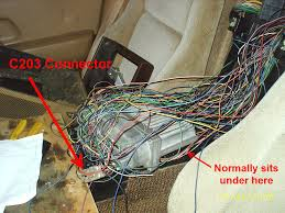 electrics and wiring maxtakeoff c203 connector location