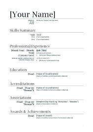 Free Printable Job Resume Templates Online Resume Template Free Make