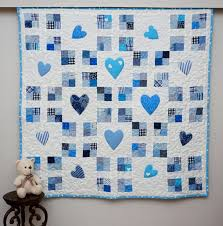 baby boy quilt blue crib quilt