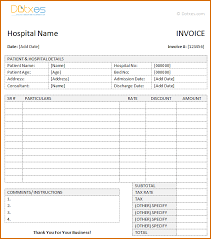 Medical Invoice Template Magdalene Project Org