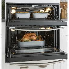 ft single double convection wall oven