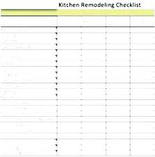 Home Renovation Spreadsheet For Costs Home Renovation Cost Estimate Template For Kitchen Remodel