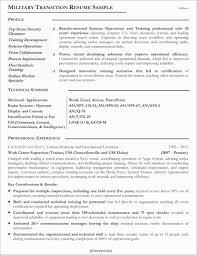 Elegant Military To Civilian Resume Template Resume Design