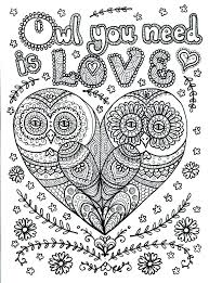 Hard Coloring Pages Owl Of Animals