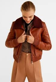 moon leather jacket brown