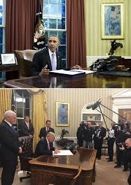 Barak obama oval office golds Donald Trump Donald Trump Makes Over The Oval Office Its All Plated In Gold First Glowing Pic Hollywood Life Pics Donald Trumps Oval Office Makeover Its All Decorated In