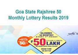 Rajshree Result Chart 18 10 2019 Rajshree 20 Rajshree 50 Goa State Monthly