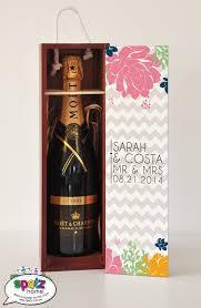 personalised monogram wine gift box