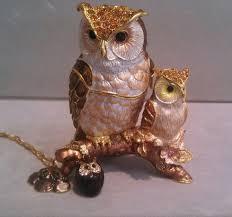 Kingspoint Designs Trinket Box Kingspoint Owl Trinket Box With Owl Pendant