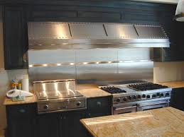 stainless steel kitchen hood. Low Profile Stainless Steel Range Hood With Rivet Details Kitchen S