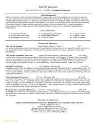 Sample Resume For Electronics Technician Maintenance Technician Resume Sample Electronic Technician Resume