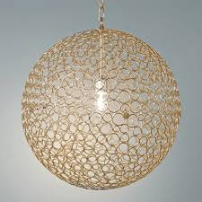 large pendant lighting. Circles Sphere Pendant Light - Large Gold Lighting