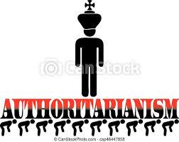 Cartaz, autoritarismo. Palavra, dobrado, pessoas., costas, mentiras,  autoritarismo. | CanStock