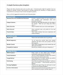 A Simple Business Plan Template Printable Business Plan Template