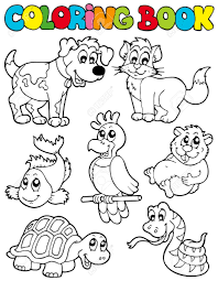 8145354 Coloring book with pets illustration Stock Vector cartoon coloring book with pets illustration royalty free cliparts on pets for coloring