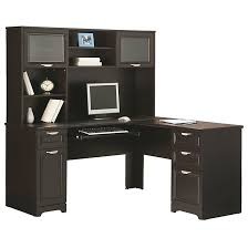 office depot desk hutch. Realspace Magellan Collection L Shaped Desk 30 H X 58 34 W 18 D Espresso By Office Depot \u0026 OfficeMax Hutch I
