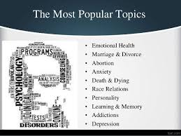 top psychology research paper topics 4 the most popular topics