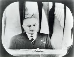 Image result for On October 5, 1947, President Harry Truman gives the first-ever televised presidential address from the White House.