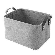 Soft storage bins Household Essentials Nibesser Felt Basket Storage Box With Handle Soft Durable Foldable Storage Bin Basket Laundry Hamper Toy Amazon Uk Nibesser Felt Basket Storage Box With Handle Soft Durable Foldable