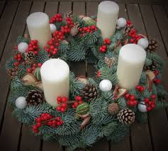 Advent Wreath Decorations Wwwbrigitteflowerscouk Advent Wreath Made With Fresh Pine Ilex