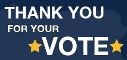 Image result for thank you  vote
