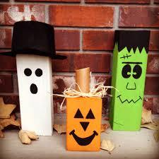 4x4 Wood Crafts 4x4 Wood Block Halloween Decorations Ghost Pumpkin And